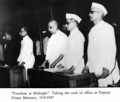 Patel taking Oath as the First Deputy Prime MInister